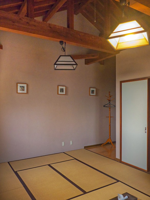 The tatami sleeping area