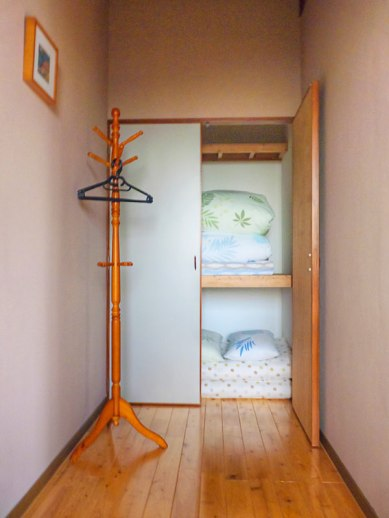 The beds are kept in this closet